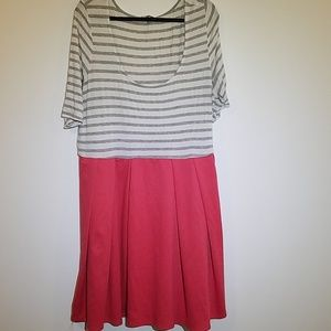Modcloth striped and coral dress